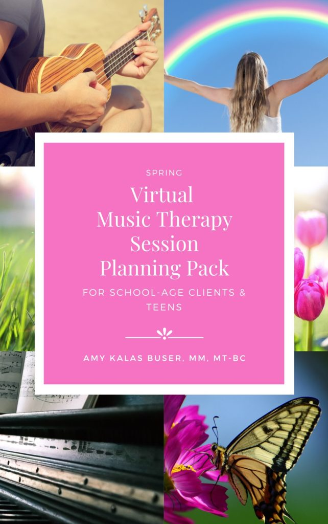 Virtual Music Therapy Session Planning Pack