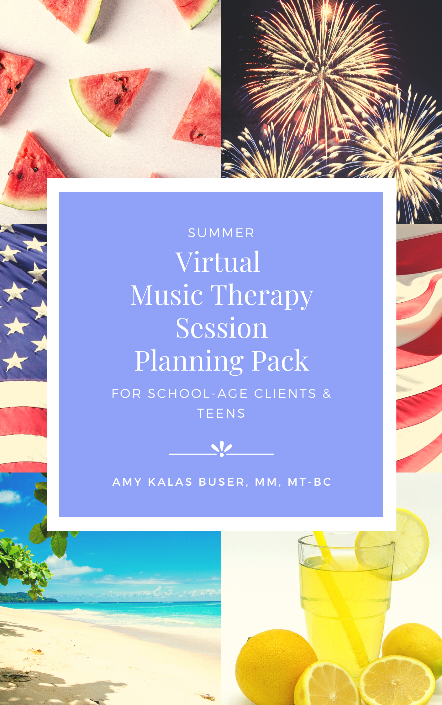 Virtual Music Therapy Session Planning Pack - Summer