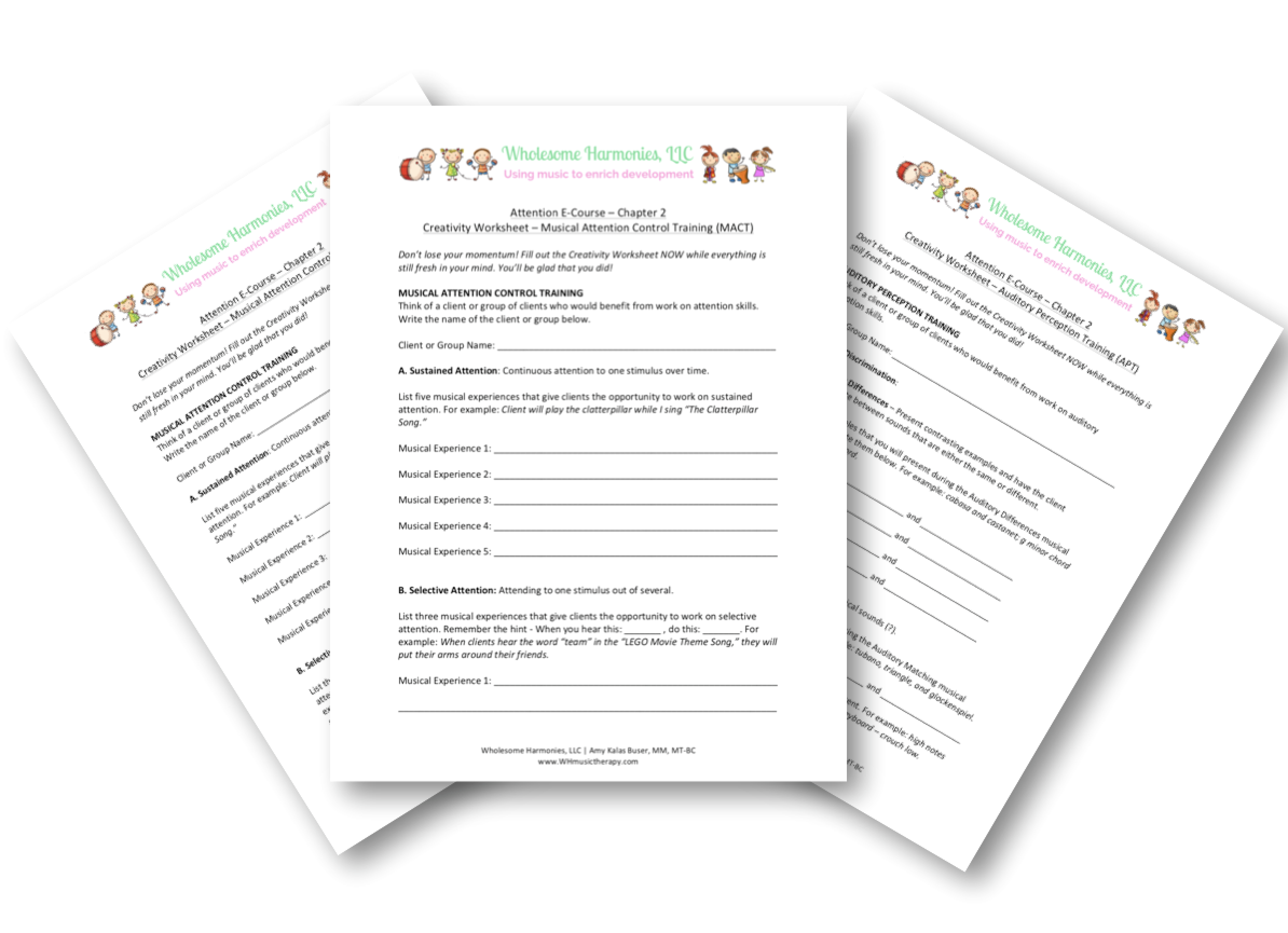 Creativity Worksheets